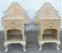 Antique Queen Anne Style Bleached Walnut Bedroom Set - SOLD